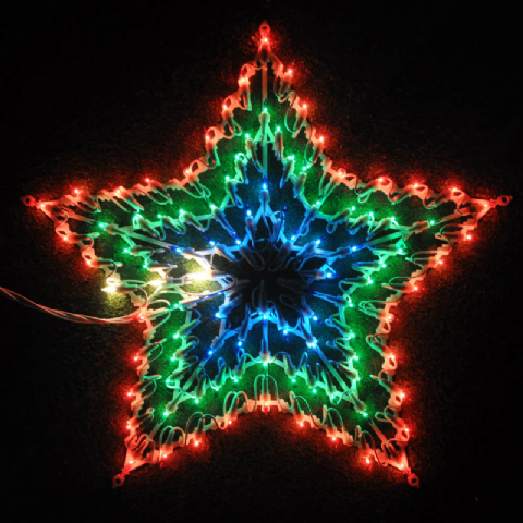 Chasing Star Coloured Indoor Multi Action Glass Window Decorations Lights